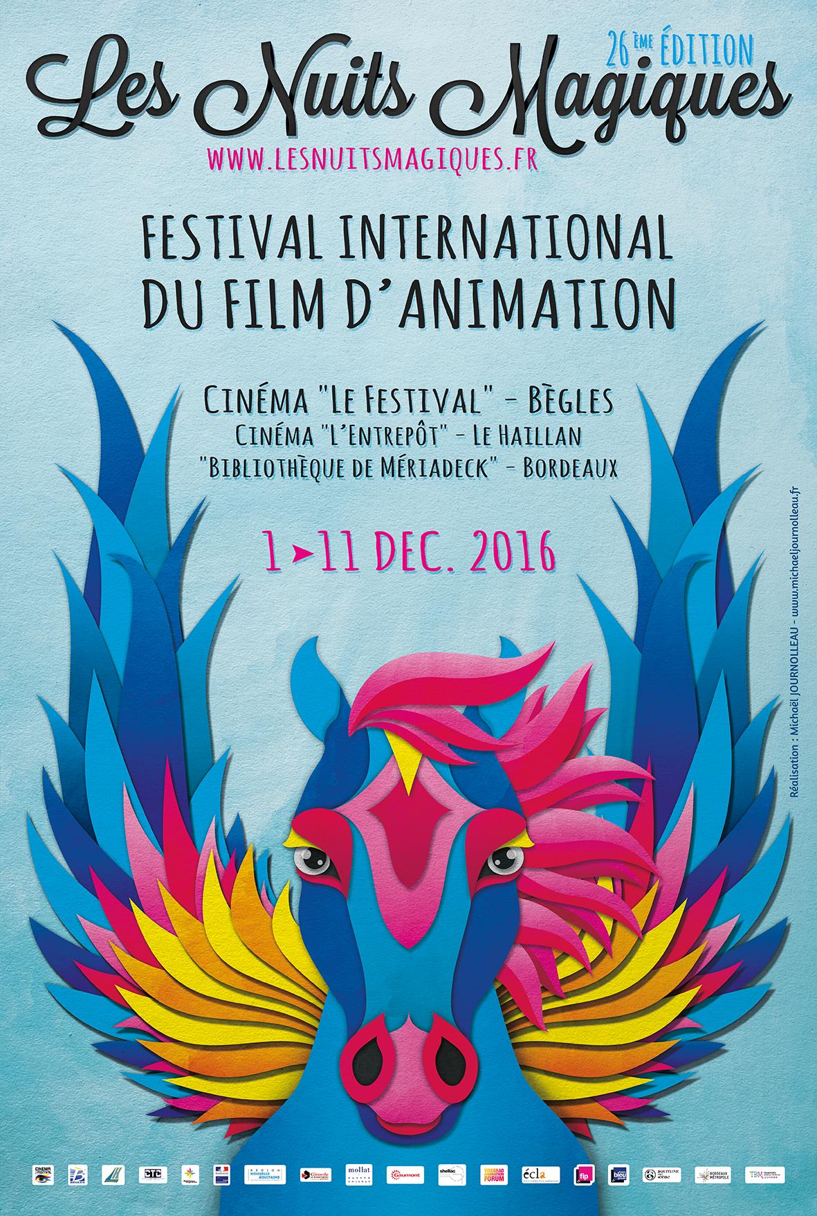 Les Nuits Magiques 2016 – Festival international du film d'animation